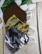 Army Print Face Mask Combo For Men Washable And Reusable Face Mask.
