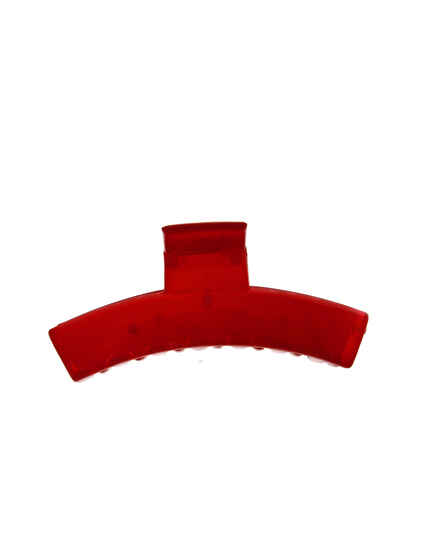 Classic Red Color Square Shape Daily Wear Hair Clutcher For Woman / Girls