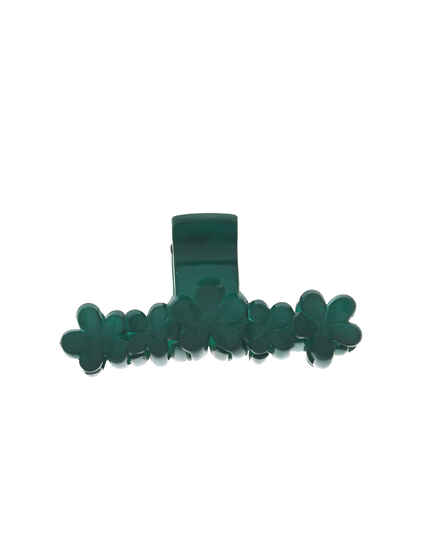 Classy Beautiful Bottle Green Design Classic Hair Clutcher For Women/ Girls