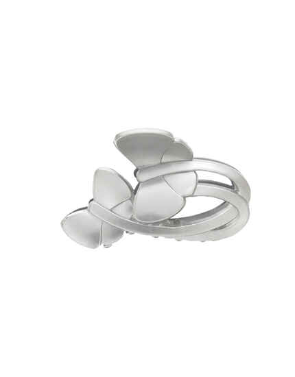 Unique Butterfly Shape Silver Grey Color Daily Wear Hair Clip For Woman/