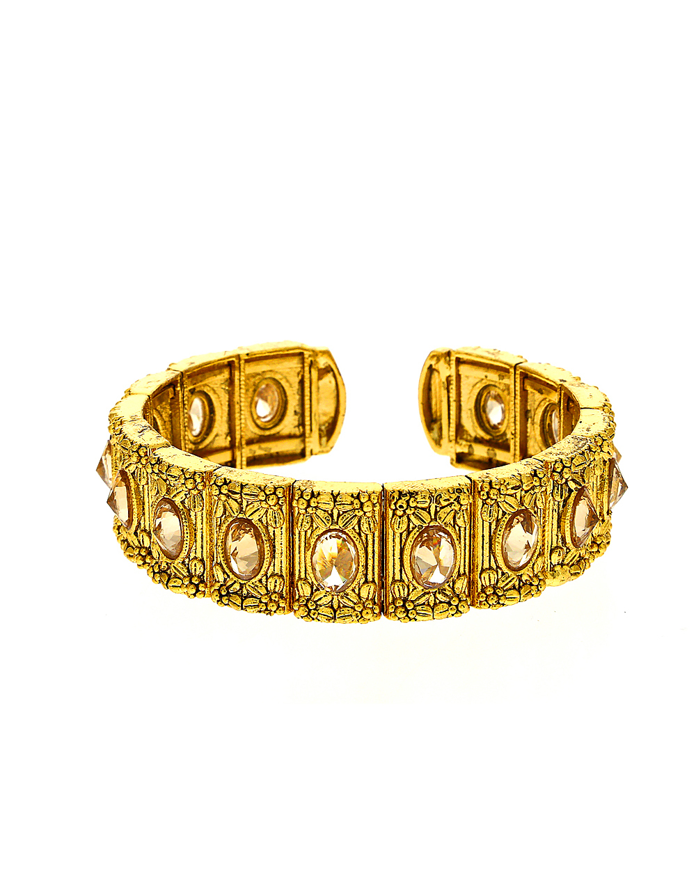 Lct Stones Studded Fancy Bracelet Set For Women In Gild Finish Classy And Elegant