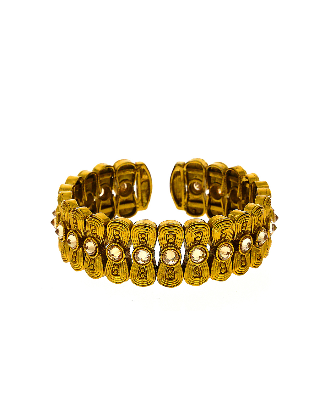 Beautiful Gold-Finish Studded With Lct Stones Adorable Bracelet