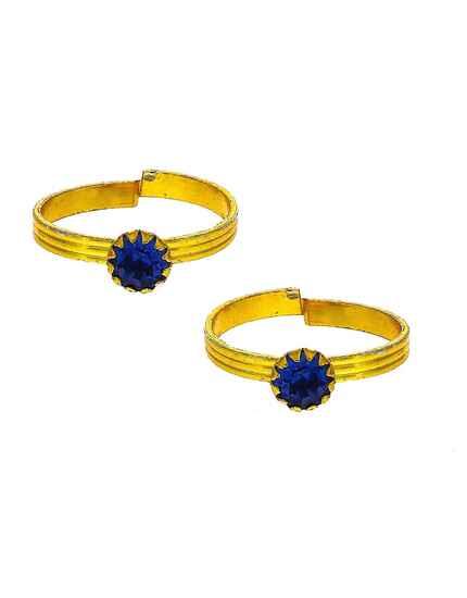 Attractive blue stone golden finish bichhudi for woman