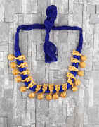 Unique Blue Colour Handmade Geru Polish Thread Necklace for Women/Girls