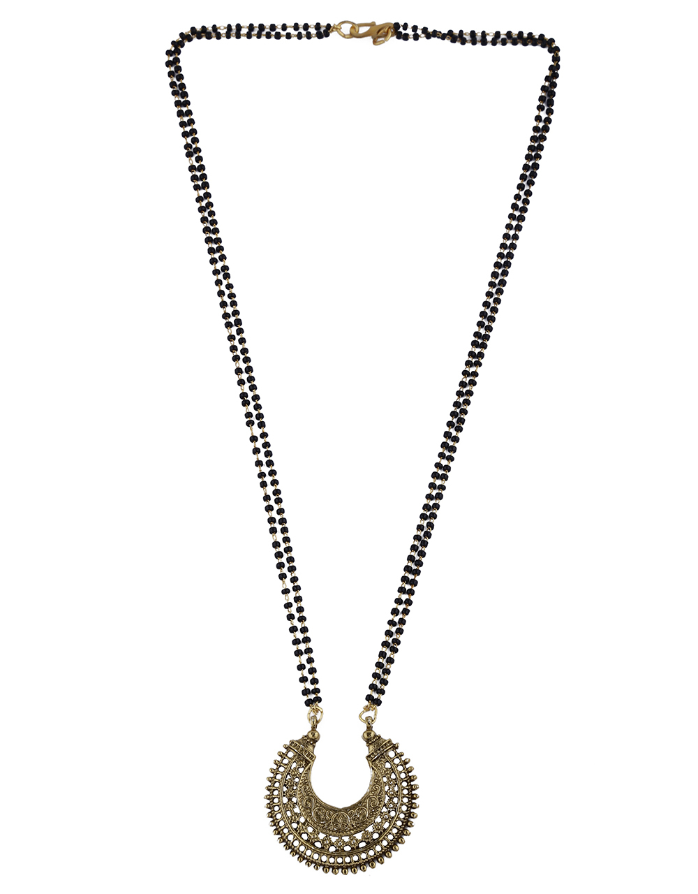 Antique Gold Finish Appealing Mangalsutra For Women
