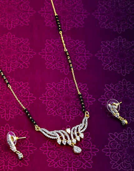 Appealing American Diamond Studded Mangalsutra For Women