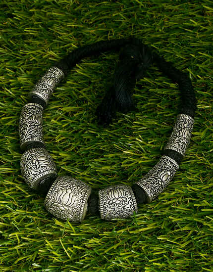 Designer Oxidised Lotus Inspired Handmade Necklace for Women