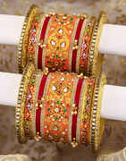 Bridal Special Red Colour Beautiful Chuda Set For Women