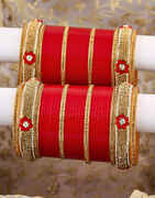 Dazzling Red Colour Beautiful Chuda Set for Bride