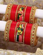 Rajwani Pattern Dulha-Dulhan Chuda Set for Bride