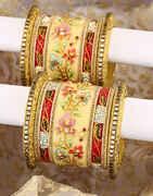 Rajasthani Pattern Floral Design Adorable Chuda Set for Women