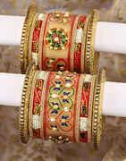 Rajasthani Chuda With Multi Colour Enamel Work