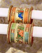 Radha Krishna Pattern Beautiful Pair of Chuda Set for Women