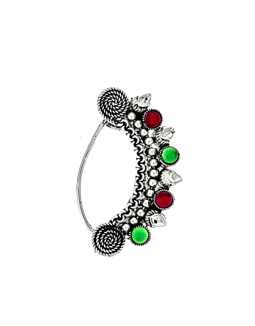 Pink-Green Combination Adorable Oxidised Nath for Women
