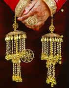 Golden Finish Adorable Multiple Strings Punjabi Kalire for Women