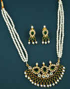 Green Colour Designer Tanmani Necklace for Women