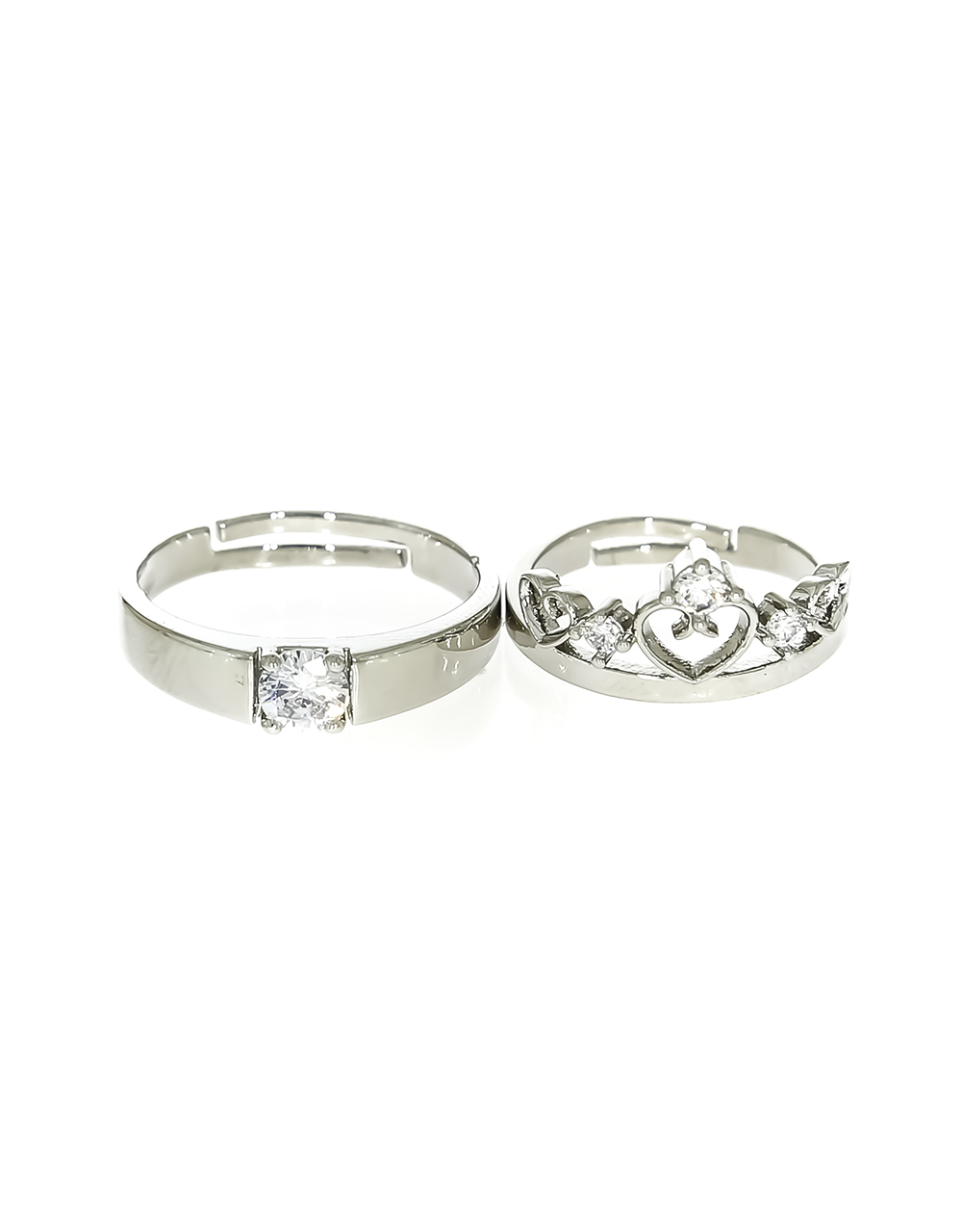 Silver Plating Dazzling Couple Rings for Men & Women