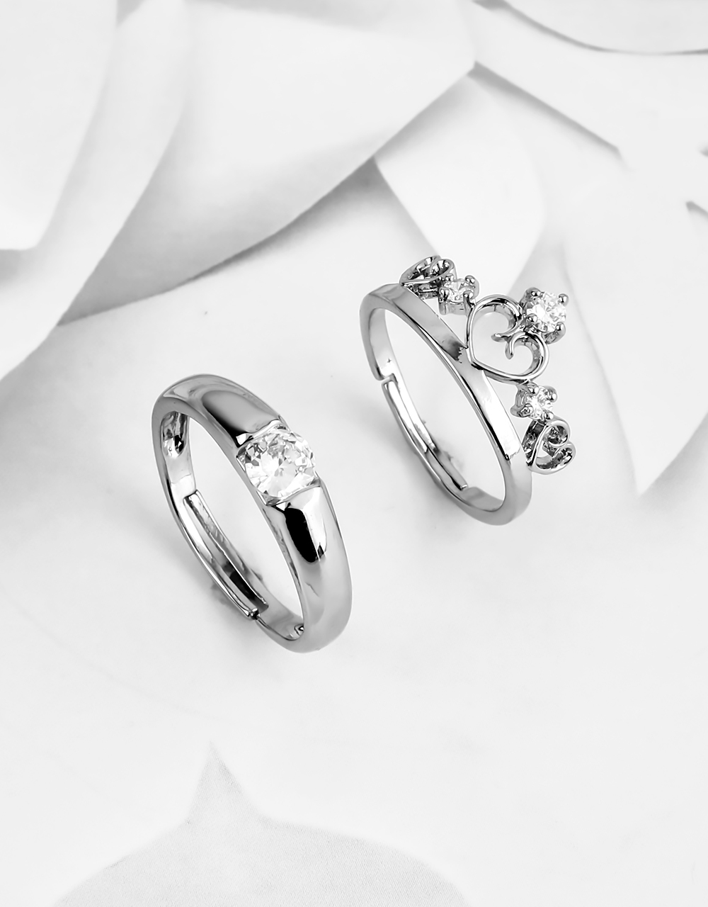 Stylish King & Queen Adorable Couple Rings