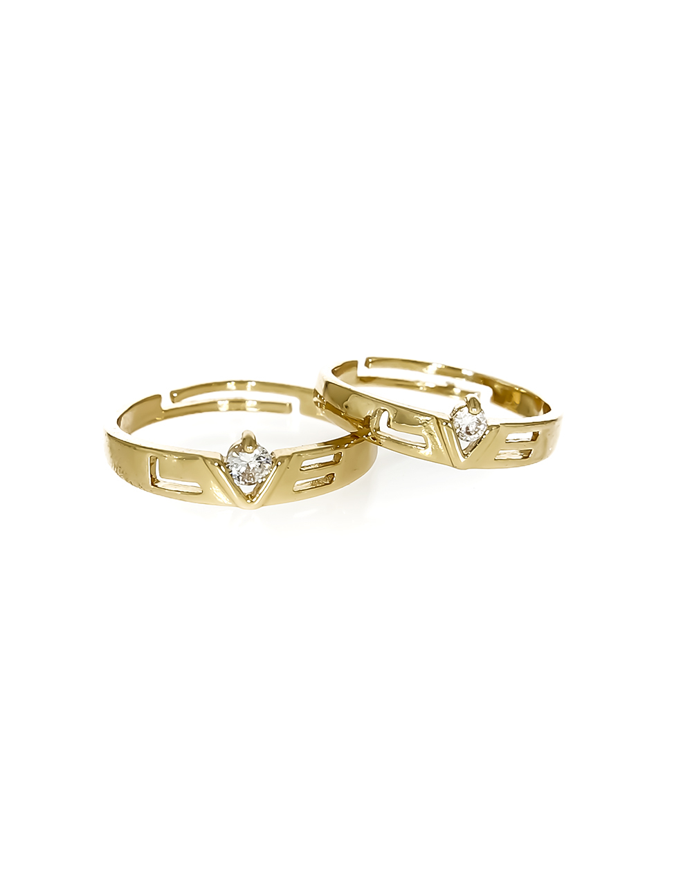 Crown Pattern Adorable Gold Plated Rings for Couple