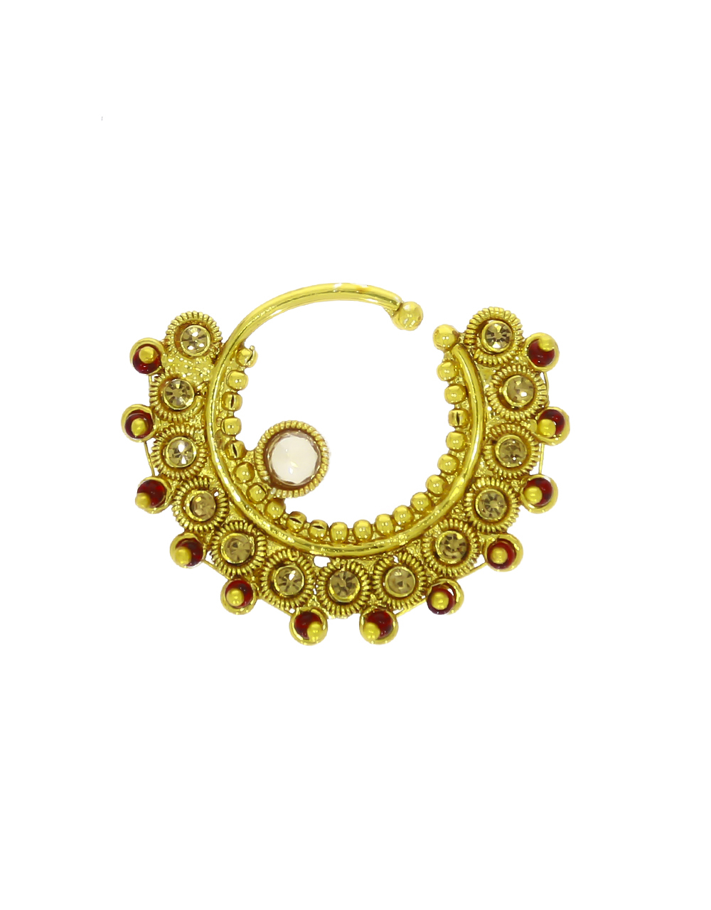 Rajasthani Look Beautiful Clip On Nose Ring for Women