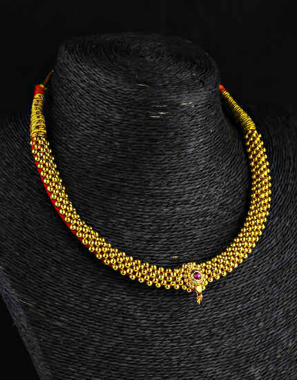 Gold Plated Traditional Thushi Necklace for Women