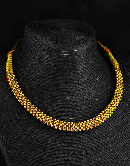 Simple Gold Plated Adorable Thushi Necklace for  Women