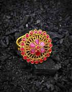 Pink Colour Round Shape Fancy Finger Ring for Women