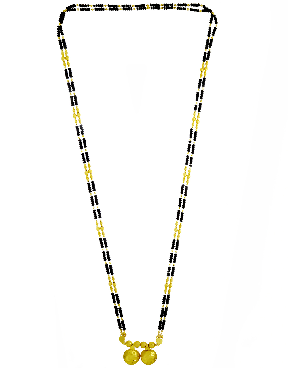 Traditional Wati Long Mangalsutra for Women with Double Layer Chain