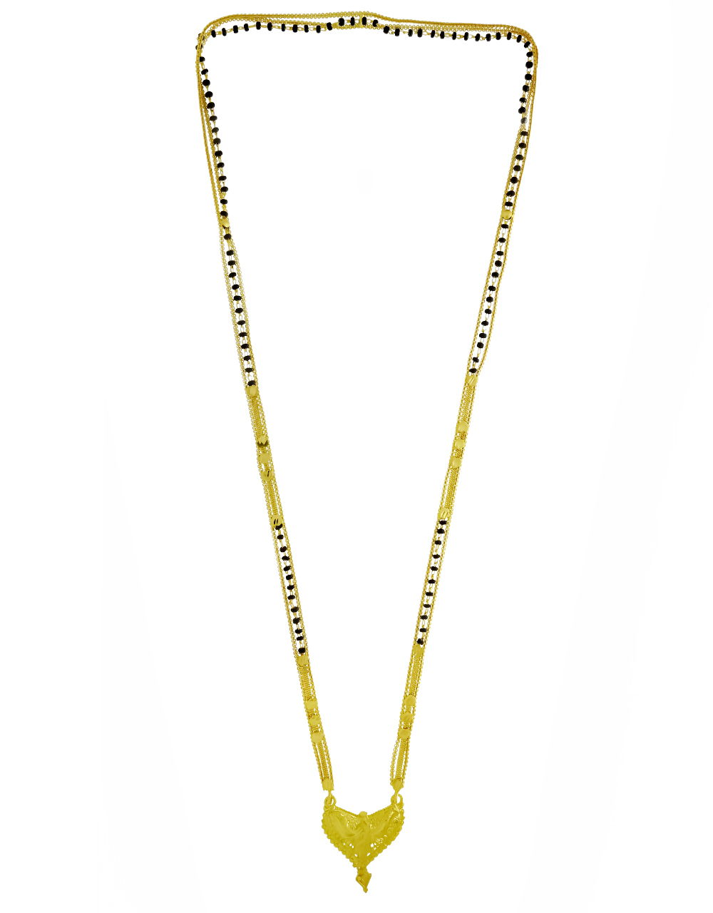 Real Gold Finished Beautiful Long Mangalsutra for Women