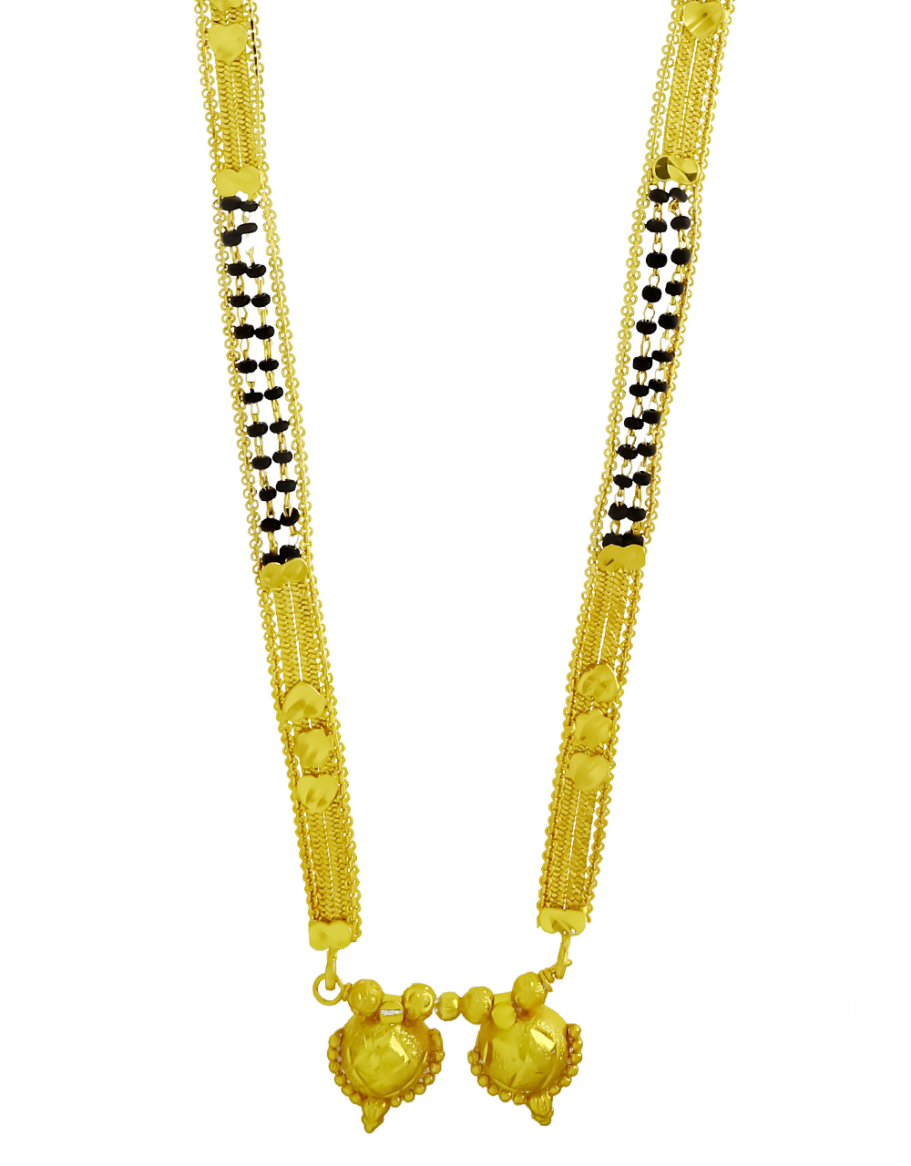 Real Gold Finishing Adorable Long Mangalsutra Design for Women