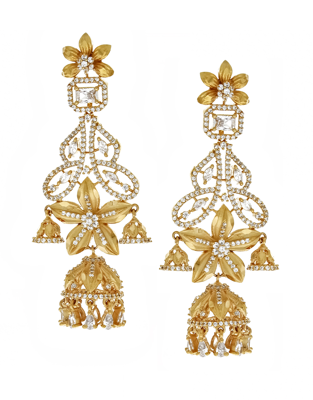 Floral Design Adorable Hanging Long Earrings for Women