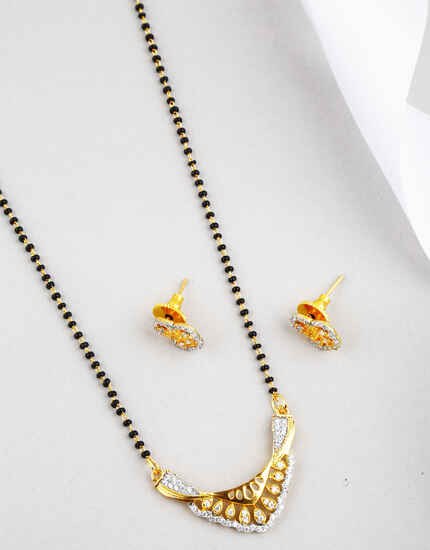 Classy Golden Finish Mangalsutra for Women Latest Design