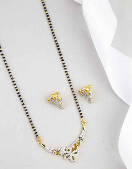 Floral Design Golden Finish Latest Mangalsutra for Women