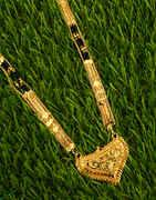 Beautiful Gold Finish Fancy Long Mangalsutra for Women