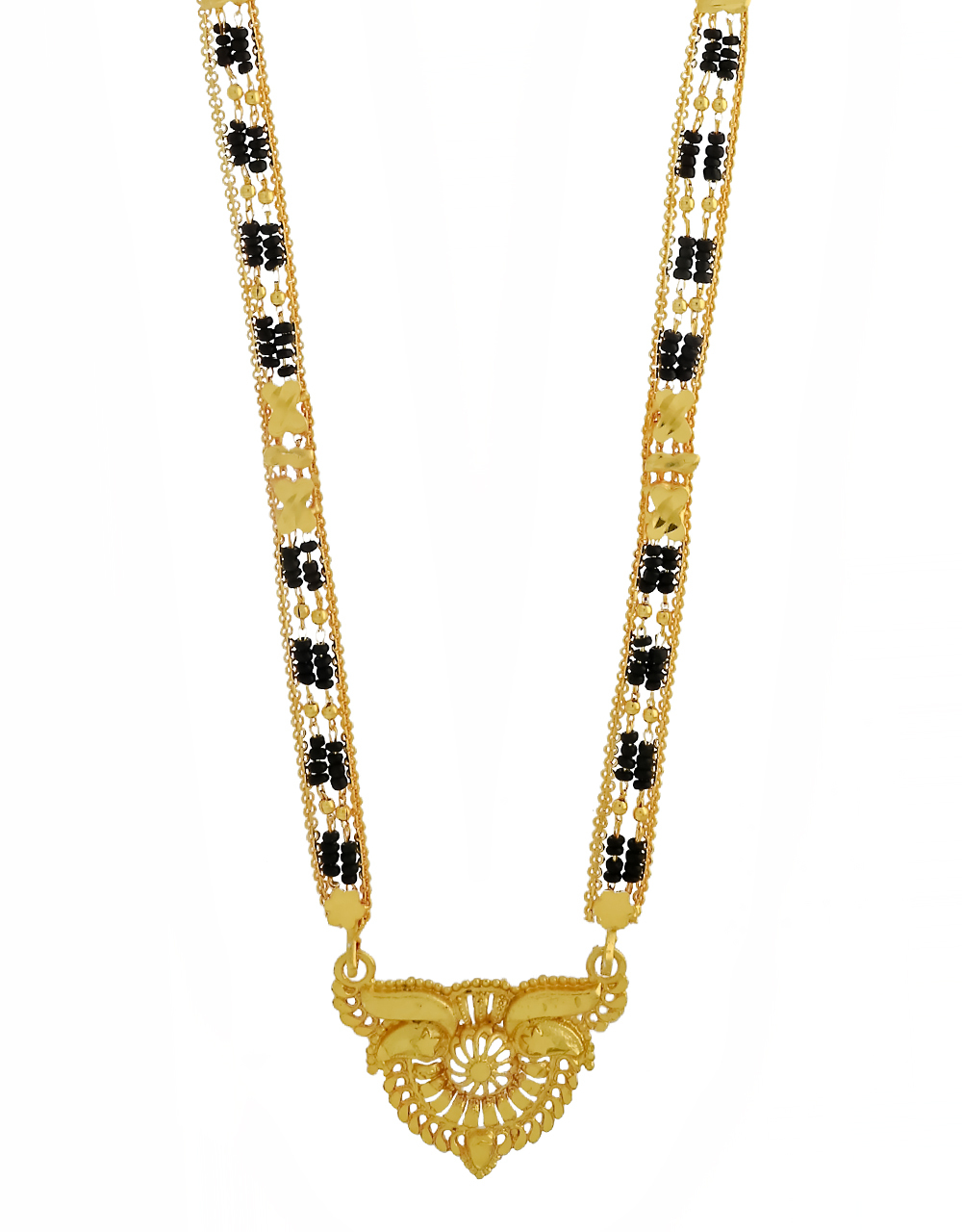 Dazzling Gold Finish Adorable Long Mangalsutra Design for Women