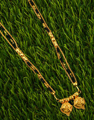 Maharashtrian Style Gold Plated Wati Mangalsutra for Women
