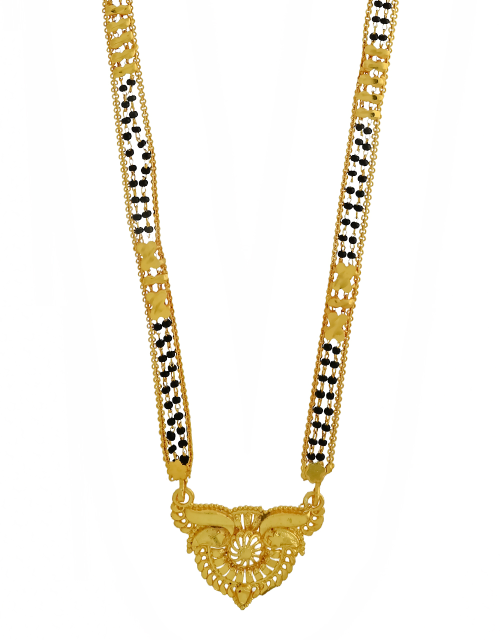 Fancy Gold Plated Designer Long Mangalsutra for Women