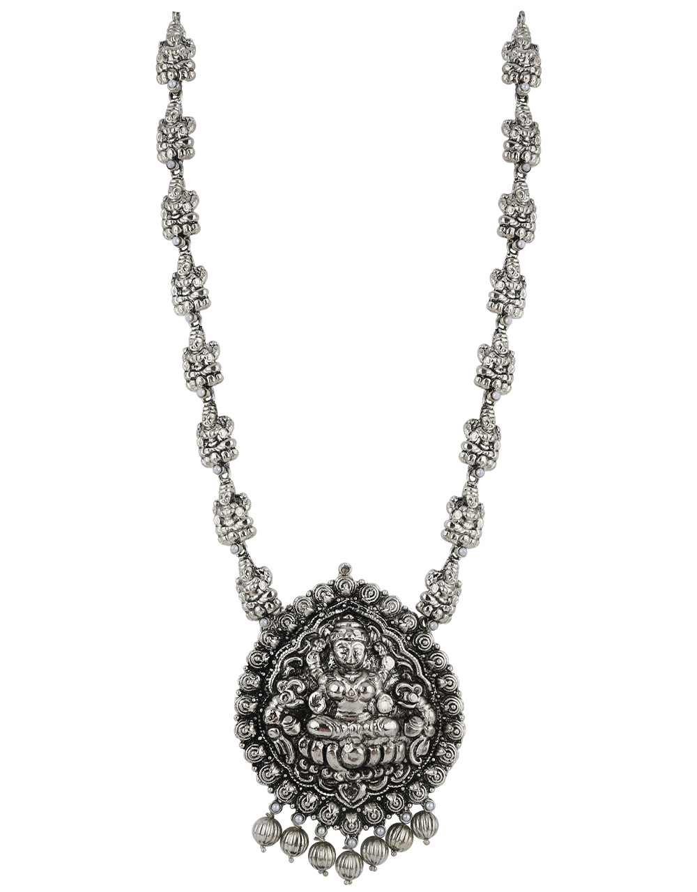 Exclusive Silver Finish Oxidised Necklace Online