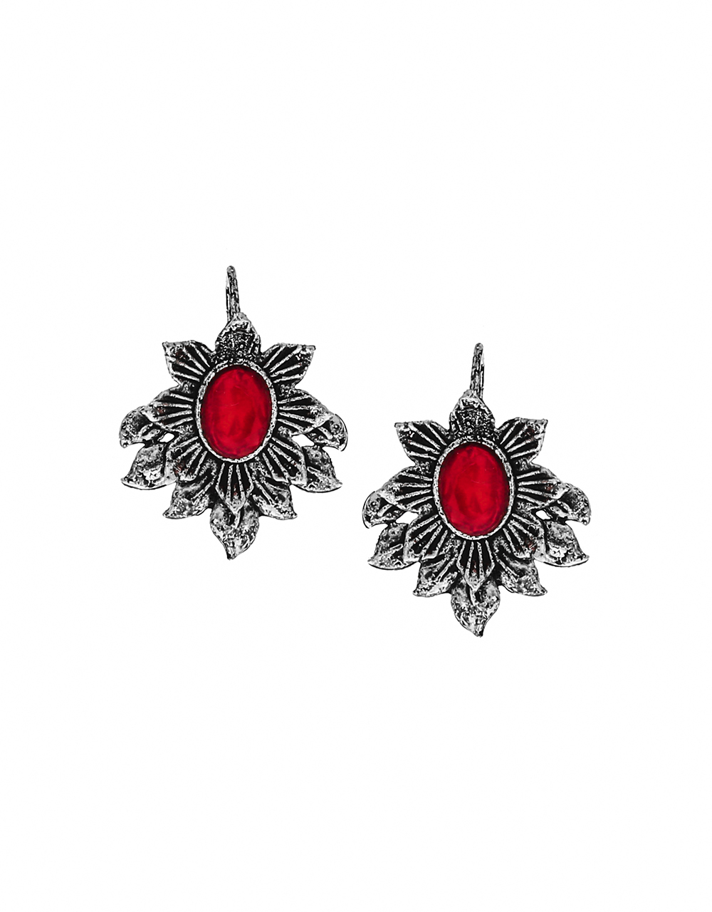 Floral Design Pink Colour Oxidized Bugadi for Women Online