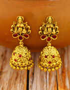 Laxmi Design Adorable Matte Gold Finished Jhumka Earrings for Women