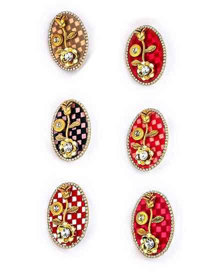 Fancy Multi-Colour Saree Pin Combo For Women