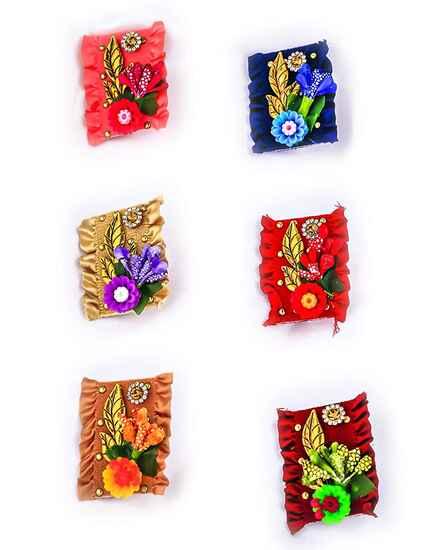 Adorable Multi-Colour Saree Pin Combo Latest Design