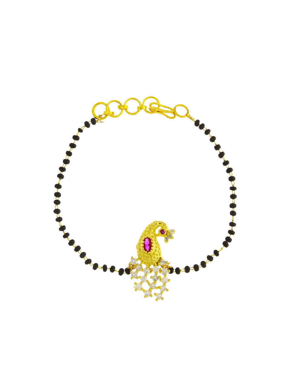 Peacock Pendant Dazzling Hand Mangalsutra for Women