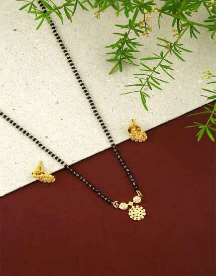 Designer Small  Wati Style Adorable Short Mangalsutra for Women
