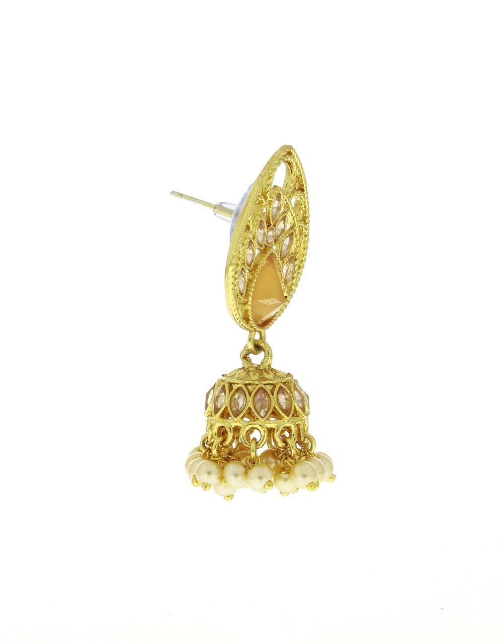 Exclusive Golden Finish Traditional Earrings for Women Latest Design