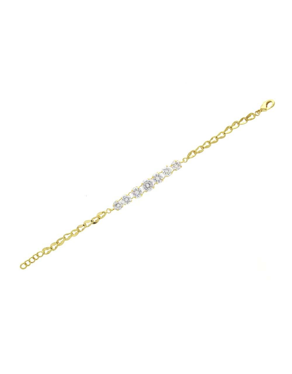 Delicate American Diamond Studded Fancy Bracelet for Girl