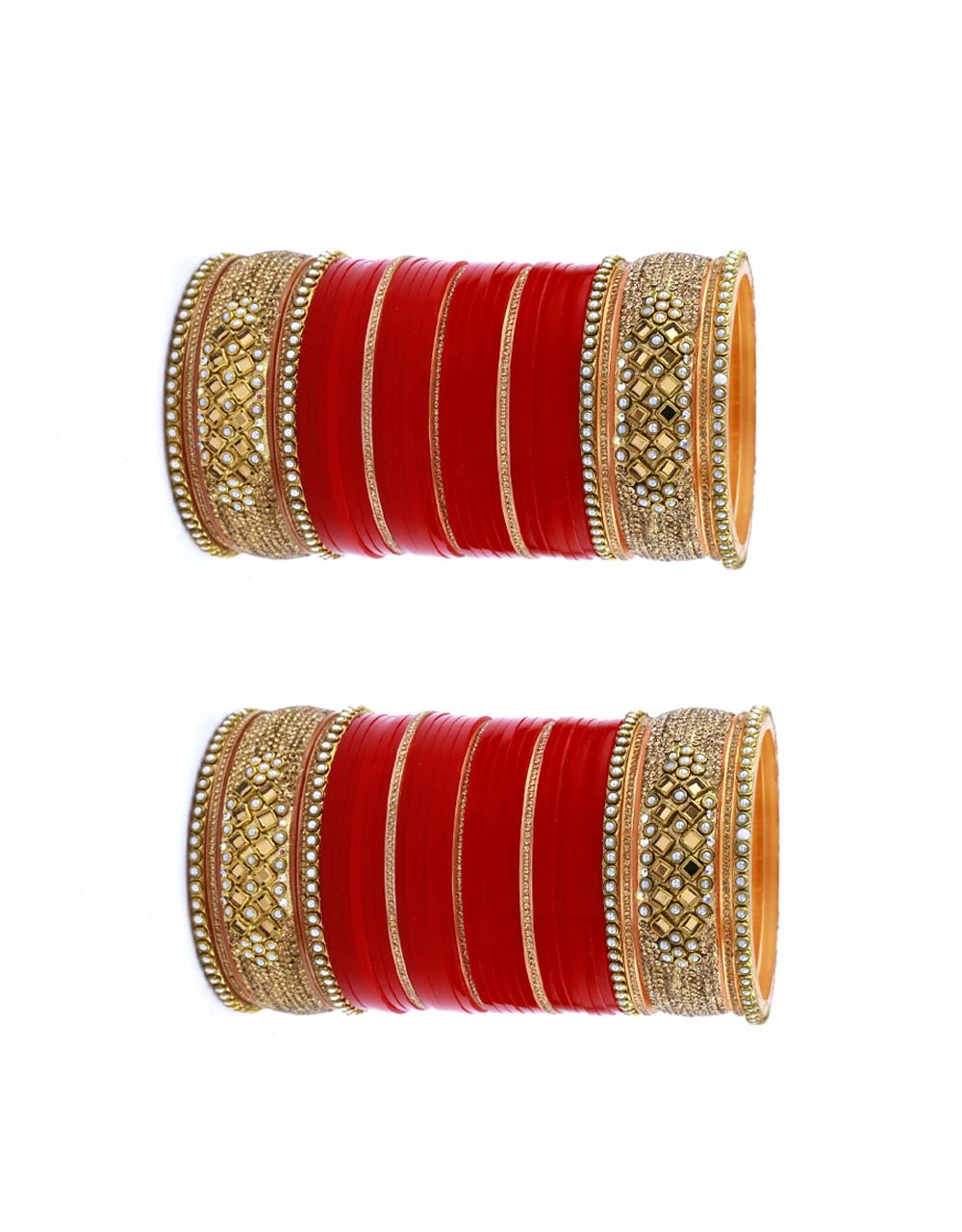 Fancy Red Colour Designer Bridal Chura Collection for Women