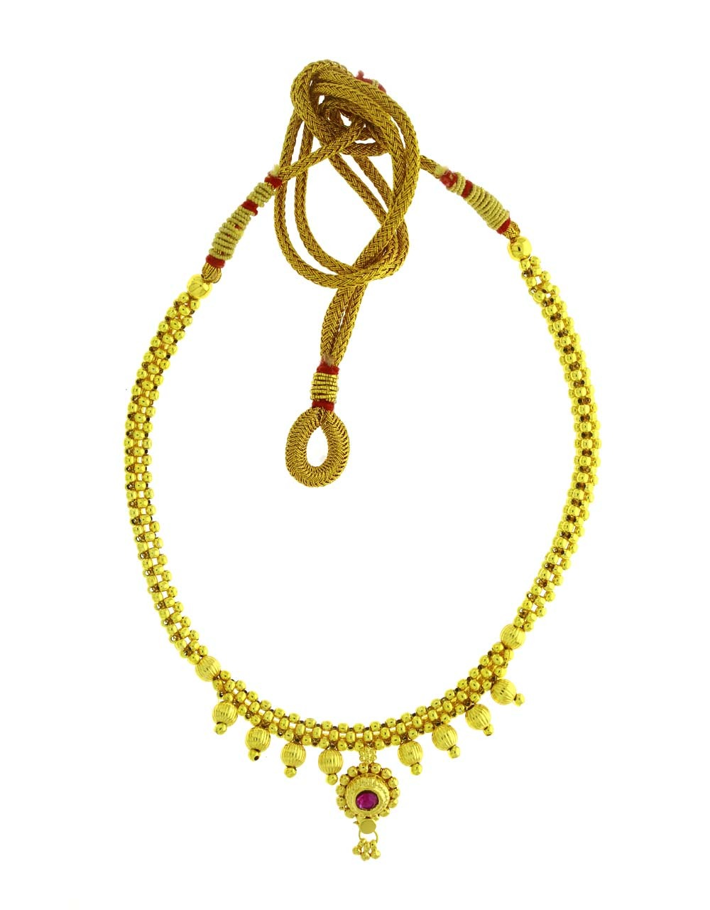 Golden Finished Appealing Beaded Thushi Necklace for Women