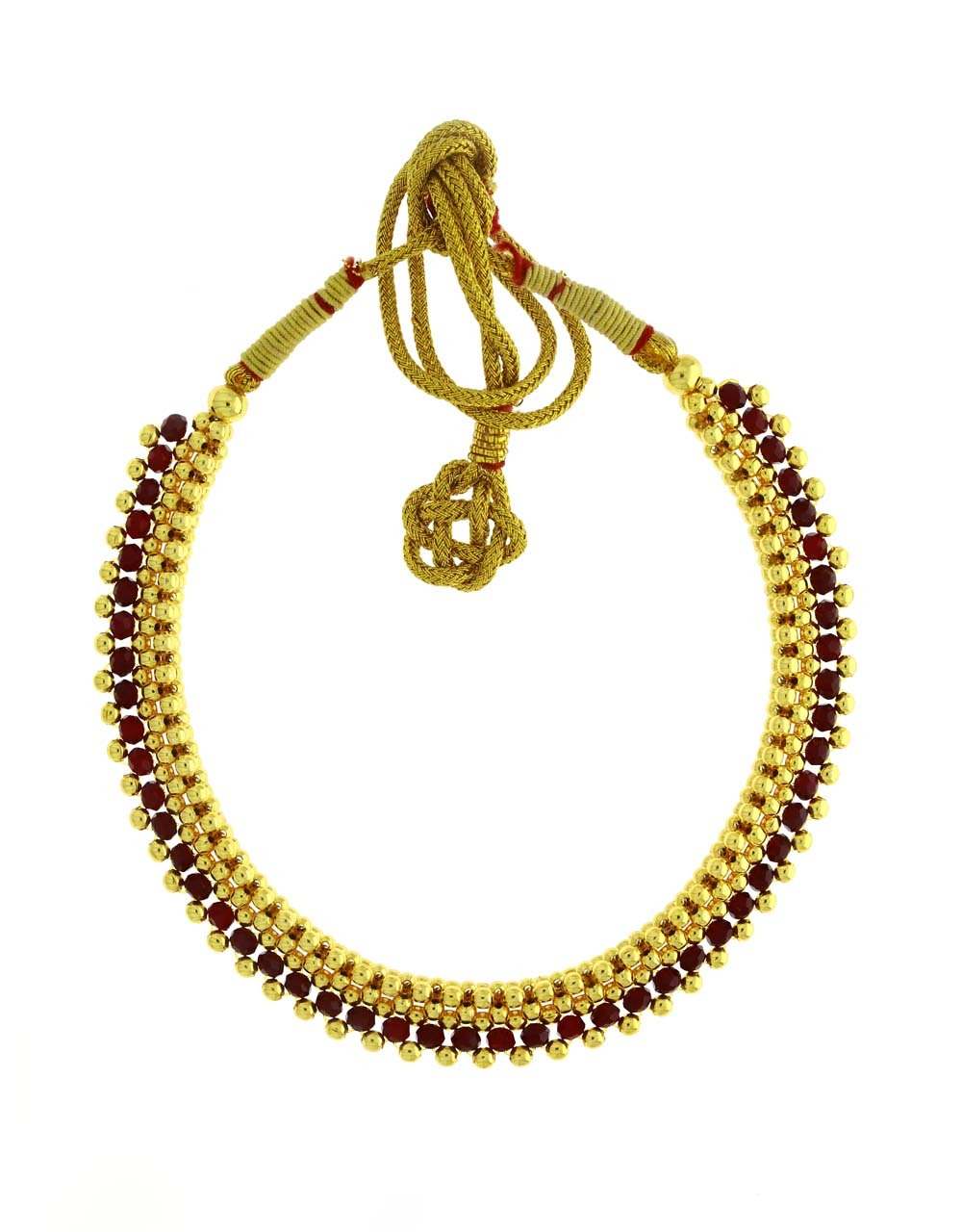 Maroon Beads Styled Adorable Thushi Necklace for Women