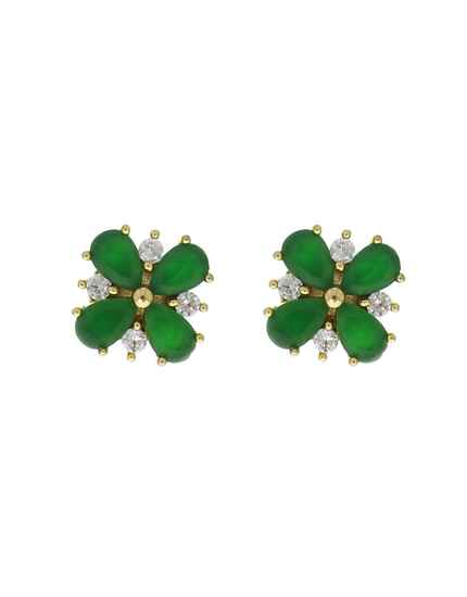 Green Colour Dazzling Pair of Fancy Ear Studs for Women